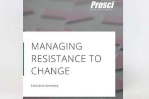 Managing resistance to change cover